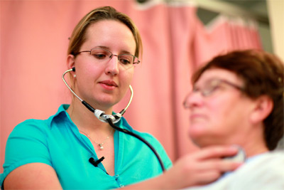 Img: Checking Swollen Lymph nodes